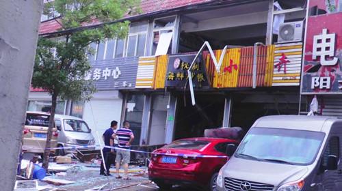 徐州云龙区一海鲜炒饭店突发燃气爆燃事故,现场五人受伤